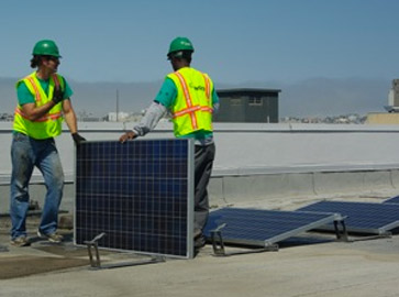 Solar Panel Installation - KQED Roof
