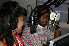 Producers in studio