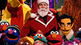 Santa with sesame street group