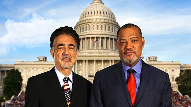 Joe Mantegna and Laurence Fishburne