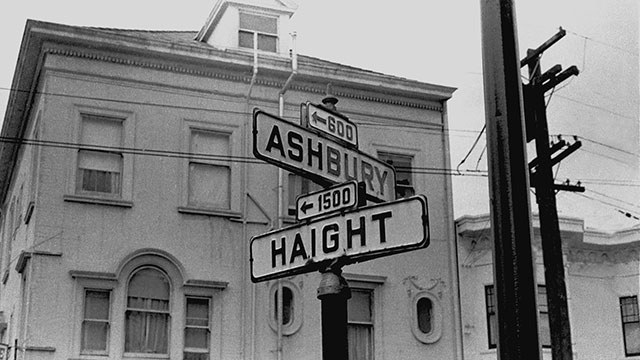 Street sign for Haight-Ashbury